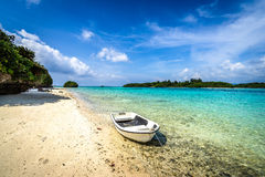 Beach paradise at tropical island of Okinawa Royalty Free Stock Photo
