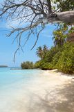 Beach in paradise stock photography
