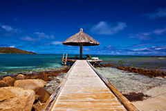 Beach Paradise. A walkway to a relaxing day in paradise Stock Images