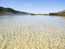 Beach paradise with water reflections Royalty Free Stock Photography