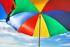 Beach parasol Stock Photography