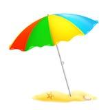 Beach parasol. Computer illustration on the white vector illustration
