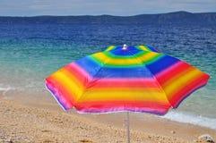 Beach parasol Stock Images