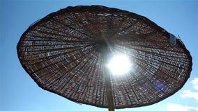 Beach parasol stock video
