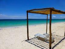 Paradise beach in Cuba stock photos