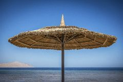 Beach parasol sun shade Stock Images
