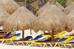 Beach parasols Stock Photography