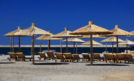 Beach parasols Royalty Free Stock Photo