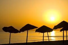 Beach parasols Royalty Free Stock Photography