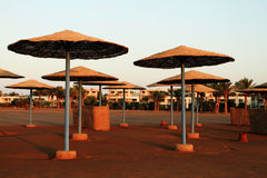 Beach parasols - Egypt Royalty Free Stock Photos