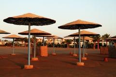 Beach parasols - Egypt Royalty Free Stock Photos