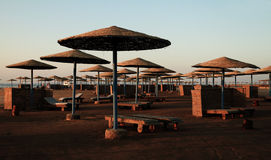 Beach parasols - Egypt Stock Photo