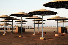 Beach parasols - Egypt Royalty Free Stock Images