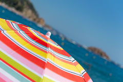 Beach with parasols Stock Photography