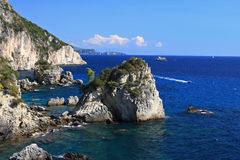Beach in Parga Royalty Free Stock Photos