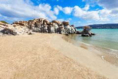 Beach on Paros island stock images