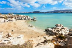 Beach on Paros island royalty free stock images