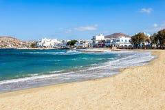 Beach on Paros island stock photography
