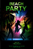 Beach party. Summer beach party vector flyer. salute- vector isolated on black background Stock Images