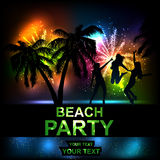 Beach party. Summer Beach Party Vector Flyer. Salute- vector isolated on black background Royalty Free Stock Photo