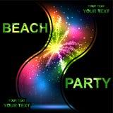 Beach party. Summer Beach Party Vector Flyer Template - EPS10 Design Stock Photo