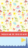 Beach party background for banner Stock Photography