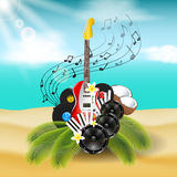 Beach Party Background Stock Image