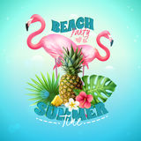 Beach Party Background Royalty Free Stock Images