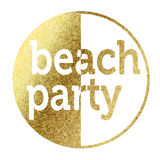 Beach Party. In bright gold Stock Images