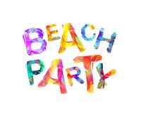 Beach party. Colorful triangularletters Stock Photography