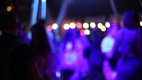 Beach Party at disco club, big night party, many people drinking and dancing. stock video footage