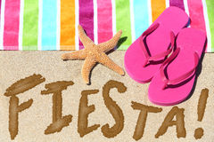 Beach party fiesta travel fun concept Royalty Free Stock Images