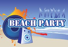 Beach party flyer Royalty Free Stock Photo