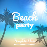Beach Party Flyer - Vector Design beautiful background. Illustartion of Beach Party Flye with place for text Stock Image