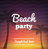 Beach Party Flyer - Vector Design beautiful background. Illustartion of Beach Party Flye with place for text Stock Photography