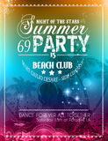 Beach Party Flyer for your latin music event Royalty Free Stock Photos