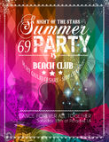 Beach Party Flyer for your latin music event Stock Photos