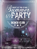 Beach Party Flyer for your latin music event Royalty Free Stock Photography