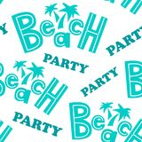 Beach party pattern Royalty Free Stock Photography