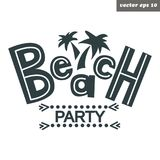 Beach party royalty free illustration