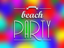 Beach party invitation poster, colorful backround Stock Photos
