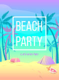 Beach party. Let's have fun Stock Image