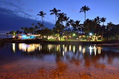 Beach party Luau in Hawaii after sunset Stock Photography
