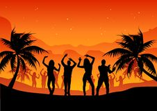 Beach party people royalty free stock photos