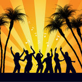 Beach Party People Dancing Royalty Free Stock Photos