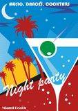 Beach Party poster Royalty Free Stock Photography