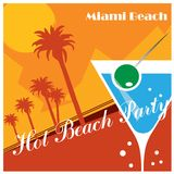 Beach Party poster Stock Photography