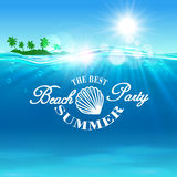 Beach Party poster. The best summer placard Stock Images