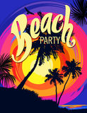 Beach party poster Stock Images