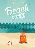 Beach party poster Stock Photos